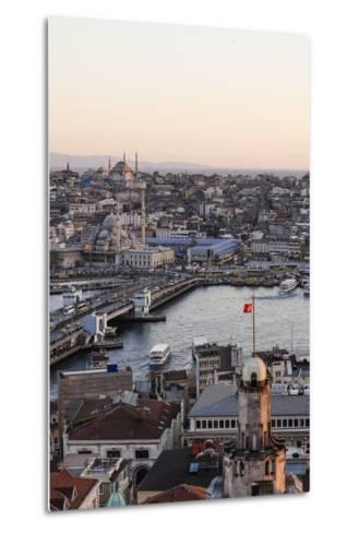 View over Istanbul Skyline from the Galata Tower at Sunset, Beyoglu, Istanbul, Turkey-Ben Pipe-Metal Print