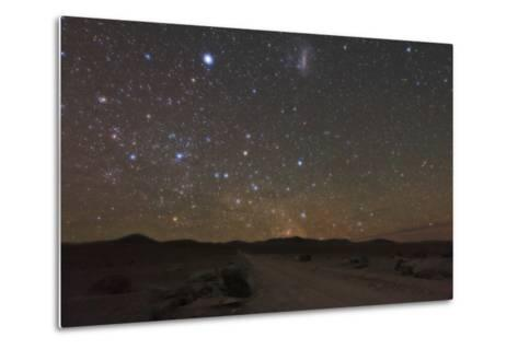 The Large Magellanic Cloud and Bright Star Canopus in the Southern Sky over the Atacama Desert-Babak Tafreshi-Metal Print