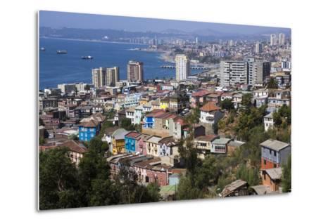 Aerial View, Valparaiso, Chile-Peter Groenendijk-Metal Print
