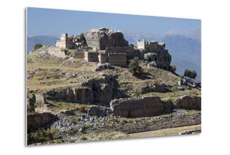 Ruined Stadium and Acropolis, Tlos, Near Kalkan-Stuart Black-Metal Print