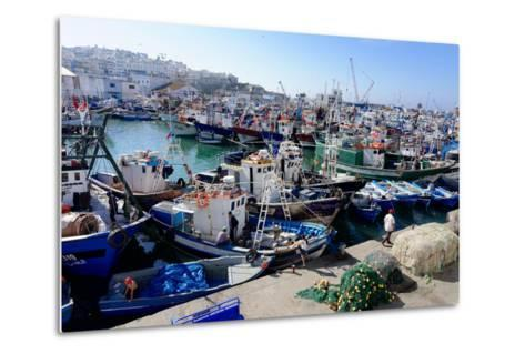 Fishing Harbour, Tangier, Morocco, North Africa, Africa-Mick Baines & Maren Reichelt-Metal Print