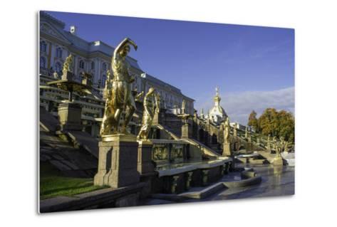 Petrodvorets (Peterhof) (Summer Palace), Near St. Petersburg, Russia-Gavin Hellier-Metal Print