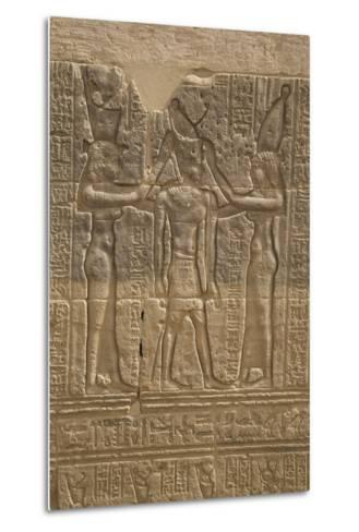 Decorative Wall Reliefs, Temple of Isis, Island of Philae, Aswan, Egypt, North Africa, Africa-Richard Maschmeyer-Metal Print