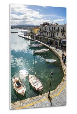 Venetian Harbour, Rethymno, Crete, Greek Islands, Greece, Europe-Michael Runkel-Metal Print