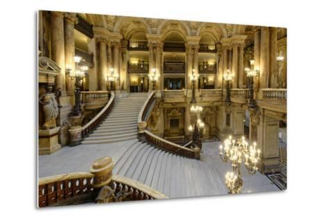Opera Garnier, Grand Staircase, Paris, France-G & M Therin-Weise-Metal Print