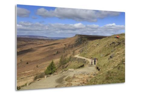 Walkers, Stanage Edge, on a Fine Spring Day-Eleanor Scriven-Metal Print