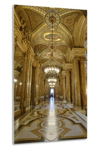 Opera Garnier, Frescoes and Ornate Ceiling by Paul Baudry, Paris, France-G & M Therin-Weise-Metal Print