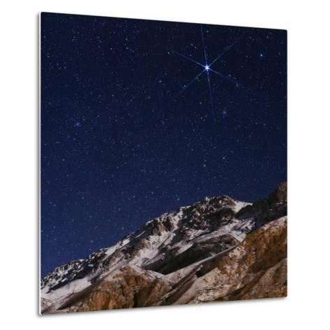 Sirius and the Constellation Canis Major Above the Alborz Mountains on a Winter Night-Babak Tafreshi-Metal Print