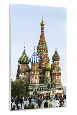 St. Basils Cathedral in Red Square, Moscow, Russia-Gavin Hellier-Metal Print