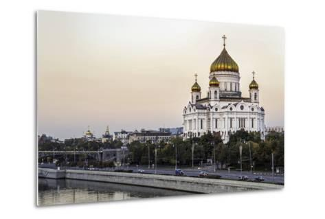 Cathedral of Christ the Saviour and Moskva River, Moscow, Russia-Gavin Hellier-Metal Print