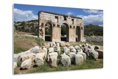 Arch of Mettius Modestus, Patara, Near Kalkan-Stuart Black-Metal Print