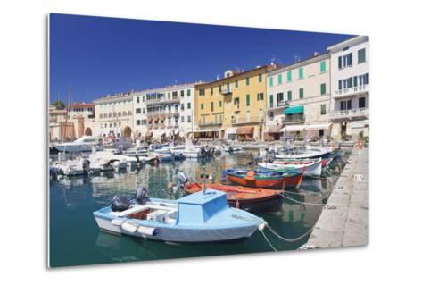 Harbour with Fishing Boats, Portoferraio, Island of Elba-Markus Lange-Metal Print