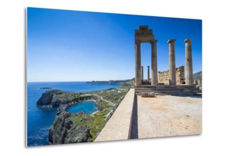 Acropolis of Lindos, Rhodes, Dodecanese Islands, Greek Islands, Greece, Europe-Michael Runkel-Metal Print