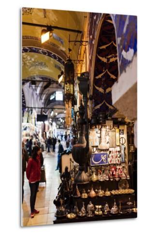 Interior of Grand Bazaar (Kapali Carsi), Istanbul, Turkey-Ben Pipe-Metal Print