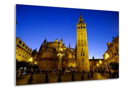 Seville Cathedral and Giralda, Seville, Andalucia, Spain-Carlo Morucchio-Metal Print
