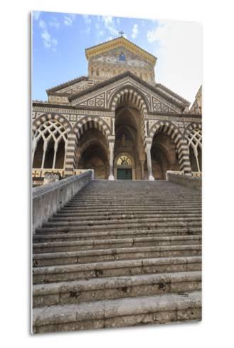 Cathedral and Steps with No People, Amalfi, Costiera Amalfitana (Amalfi Coast), Campania, Italy-Eleanor Scriven-Metal Print