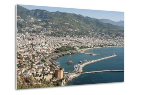 Harbour Seen from Kale Fortress, Alanya, Southern Turkey, Anatolia, Turkey, Asia Minor, Eurasia-Tony Waltham-Metal Print