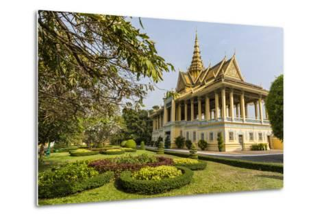 The Moonlight Pavilion, Royal Palace, in the Capital City of Phnom Penh, Cambodia, Indochina-Michael Nolan-Metal Print