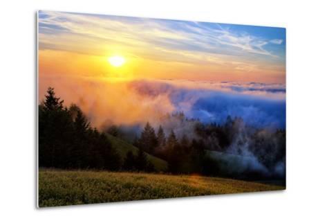 Fog and Light Mix Hills of Mount Tam California-Vincent James-Metal Print