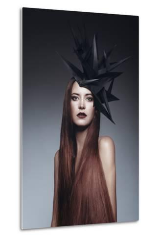Female Model with Long Red Hair-Luis Beltran-Metal Print