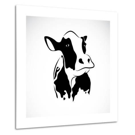 Vector Image of an Cow-yod67-Metal Print
