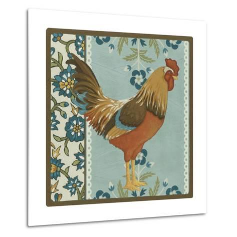 Cottage Rooster IV-Erica J^ Vess-Metal Print