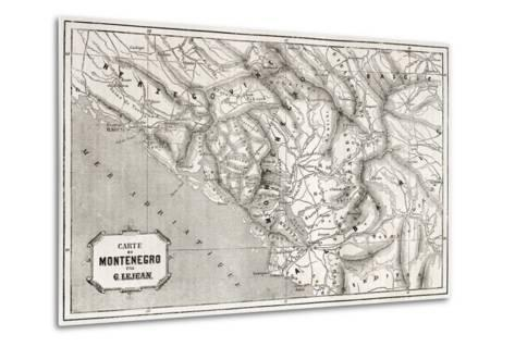 Old Map Of Montenegro. Created By Lejean, Published On Le Tour Du Monde, Paris, 1860-marzolino-Metal Print