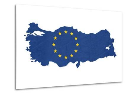 European Flag Map Of Turkey Isolated On White Background-Speedfighter-Metal Print