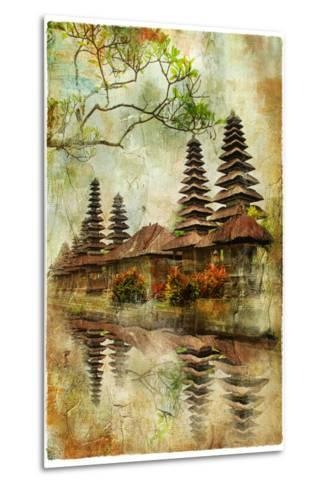 Mysterious Balinese Temples, Artwork In Painting Style-Maugli-l-Metal Print