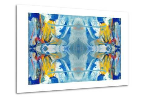 Original Oil Painting Rorschach Abstract--Metal Print