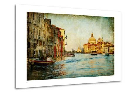 Grand Channel -Venice - Artwork In Painting Style-Maugli-l-Metal Print