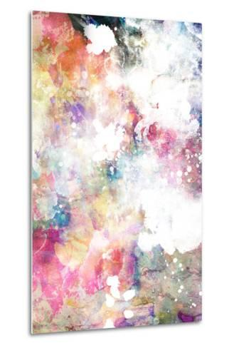 Abstract Grunge Texture With Watercolor Paint Splatter-run4it-Metal Print