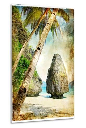 Tropical Nature - Artwork In Painting Style-Maugli-l-Metal Print