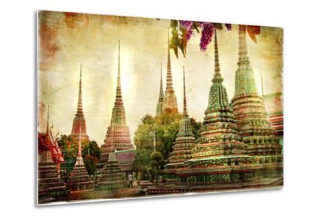 Amazing Bangkok - Artwork In Painting Style-Maugli-l-Metal Print