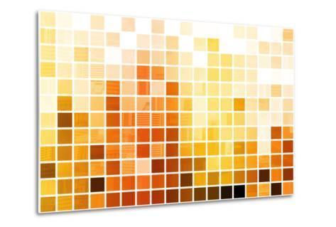 Orange Cubic Professional Abstract Background-kentoh-Metal Print