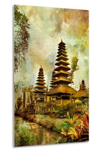 Balinese Temple - Artwork In Painting Style-Maugli-l-Metal Print