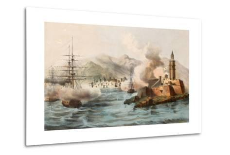 Antique Illustration Shows Palermo Bombing In 1860 By Bourbon'S Fleet-marzolino-Metal Print