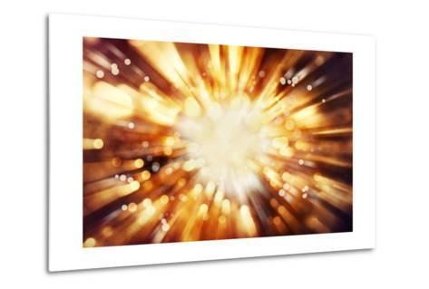 Bright Blast Of Light In Space Background-STILLFX-Metal Print