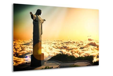 Famous Statue Of The Christ The Reedemer, In Rio De Janeiro, Brazil-Satori1312-Metal Print