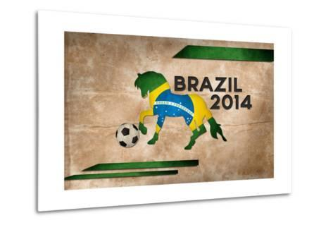 Year Of Football And Horse Of Brazil 2014-NatanaelGinting-Metal Print
