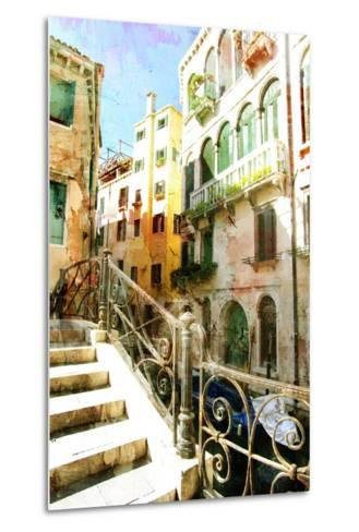 Beautiful Venetian Pictures - Oil Painting Style-Maugli-l-Metal Print