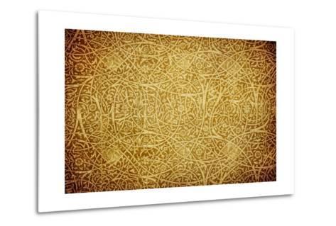 Grunge Background With Oriental Ornaments-javarman-Metal Print