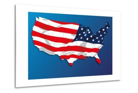 Map Of The United States Of America States, With Each State On Its Shape-Blink Blink-Metal Print