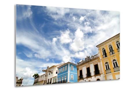 Buildings In Salvador-Spectral-Design-Metal Print