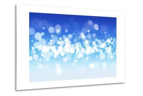 Blue Sky Blurry Lights-alexaldo-Metal Print