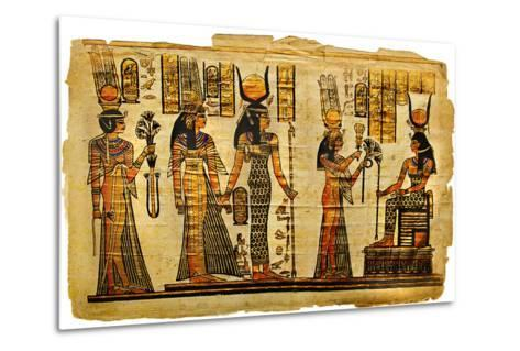 Ancient Egyptian Parchment-Maugli-l-Metal Print