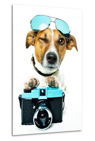 Dog Photo Camera-Javier Brosch-Metal Print