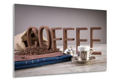 Turkish Coffee In Front Of Coffee Letters- Uwphotographer-Metal Print