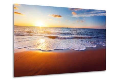 Sunset And Beach-Hydromet-Metal Print