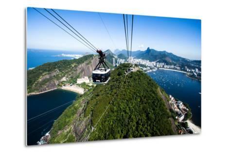 The Cable Car To Sugar Loaf In Rio De Janeiro-Mariusz Prusaczyk-Metal Print